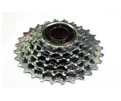 Трещетка 6 скоростей, зубья 14-28T, сталь, хромированная
